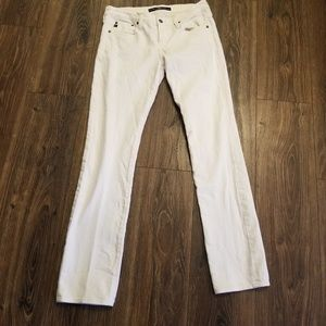 Big Star womens 27 R Mid Rise Straight white jeans